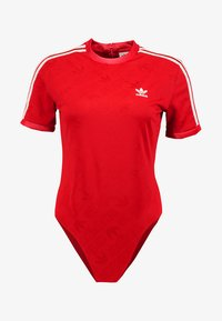 adidas Originals - ADICOLOR 3 STRIPES BODYSUIT  - T-shirt med print - scarlet - 4