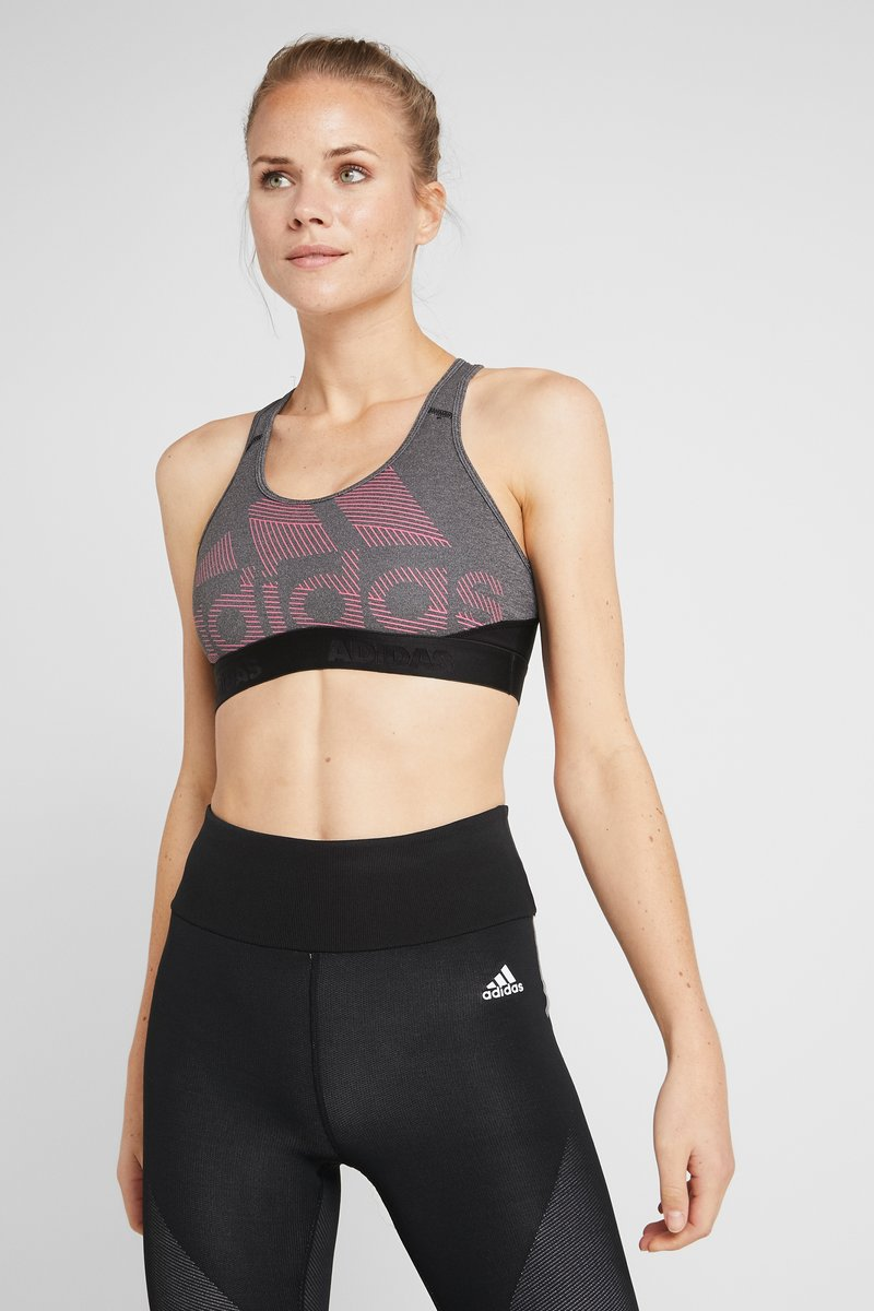 adidas Performance - Sport-bh - black/heather/real pink