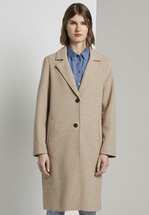 Classic coat - powder beige melange