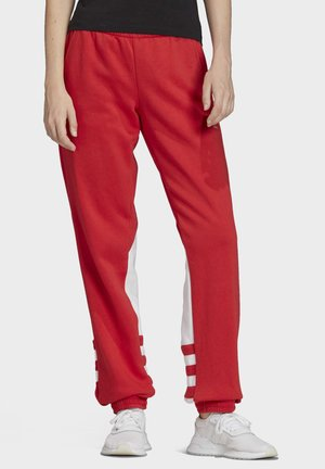 LARGE LOGO SWEAT JOGGERS - Tracksuit bottoms - red