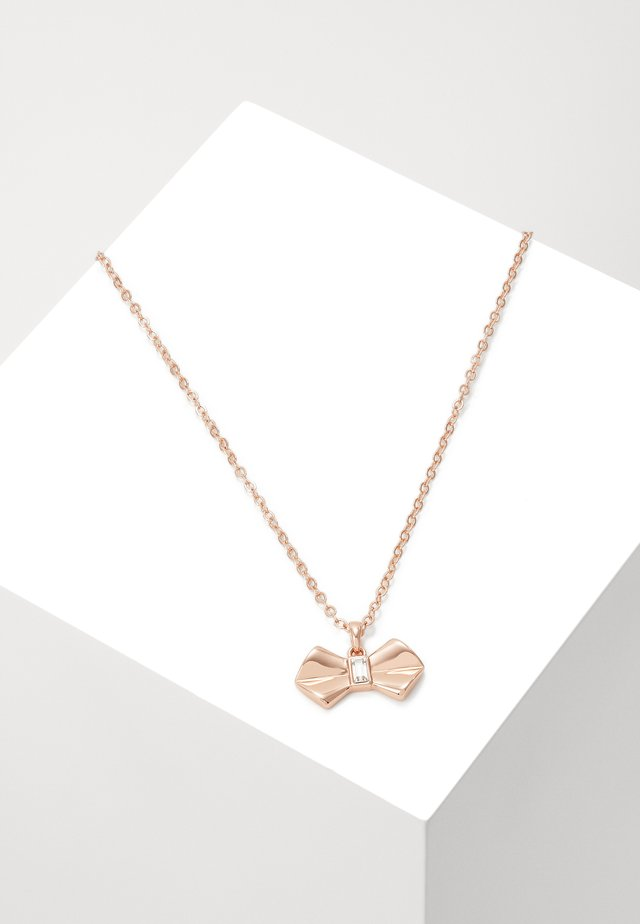 SARAHLI SOLITAIRE BOW PENDANT - Kaulakoru - rose gold-coloured
