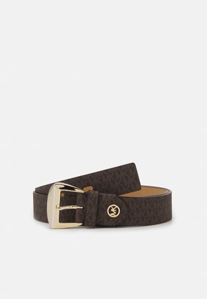 LOGO BELT - Cinturón - brown/black/gold-coloured