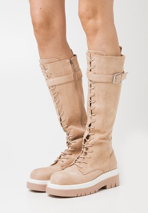 KINETIC - Platform boots - blush