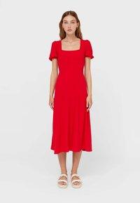 Stradivarius - Day dress - red - 1