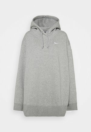 HOODIE TREND - Felpa con cappuccio - dark grey heather/white