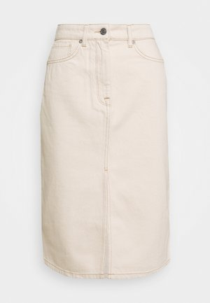 SLFMAY SKIRT - Pencil skirt - white denim