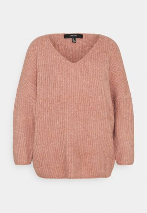 VMJULIE V-NECK  - Jumper - old rose melange
