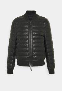 Emporio Armani - Veste en cuir - black - 0