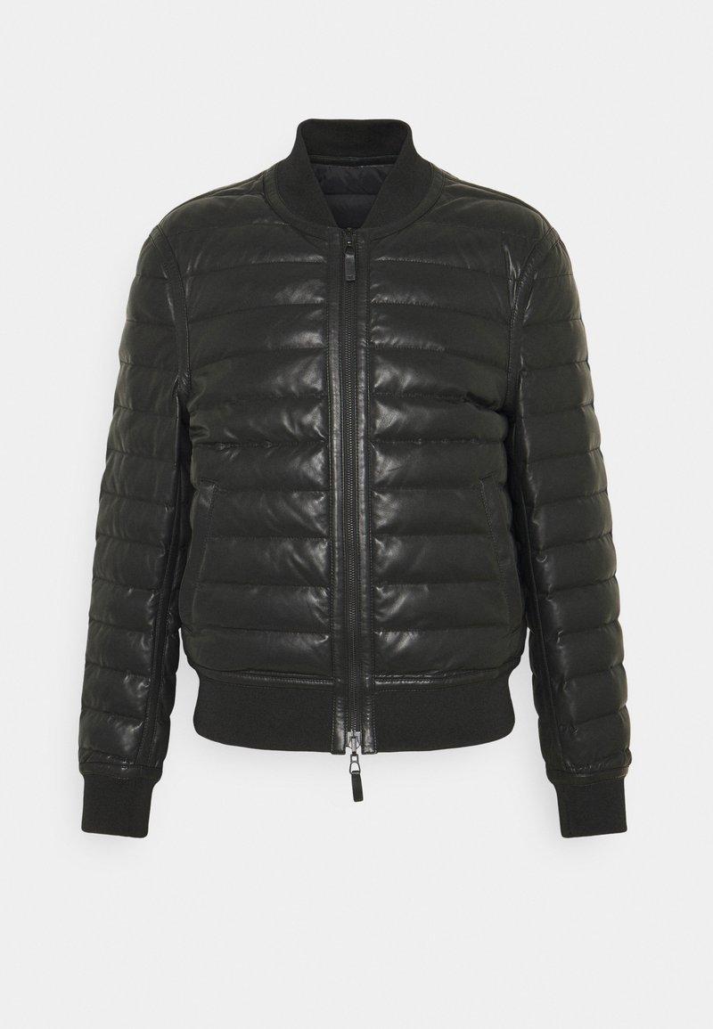 Emporio Armani - Veste en cuir - black