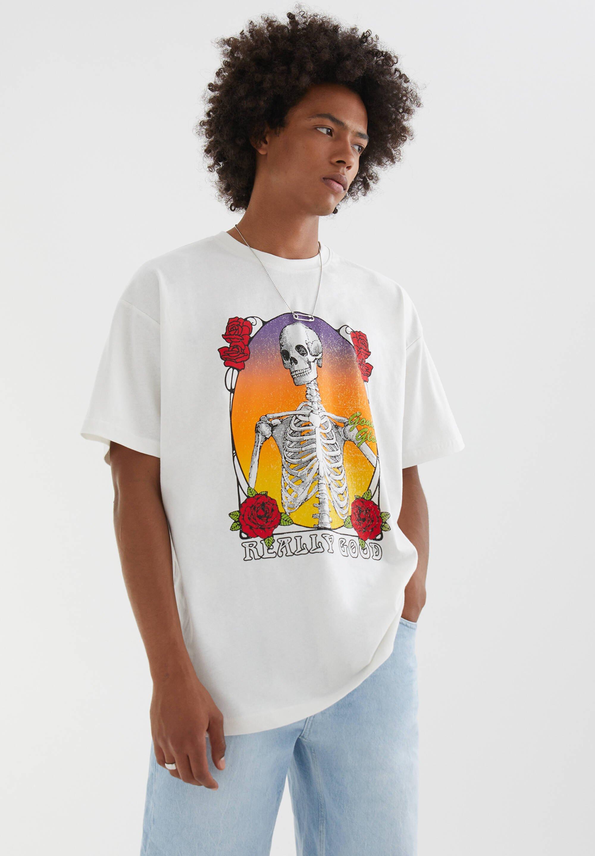 Herren MIT TOTENKOPF - T-Shirt print