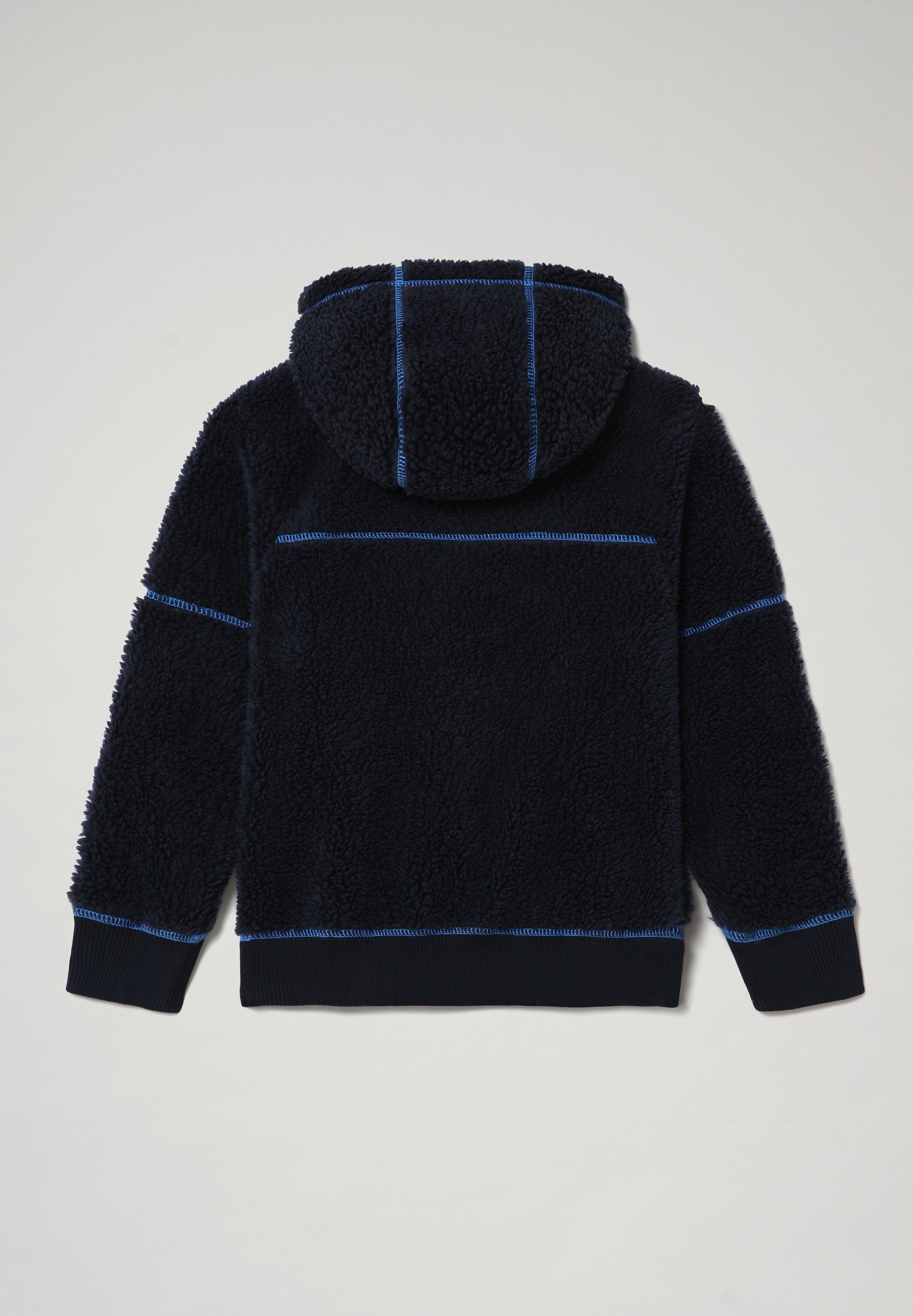 Napapijri TEIDE Fleece trui blu marinedonkerblauw