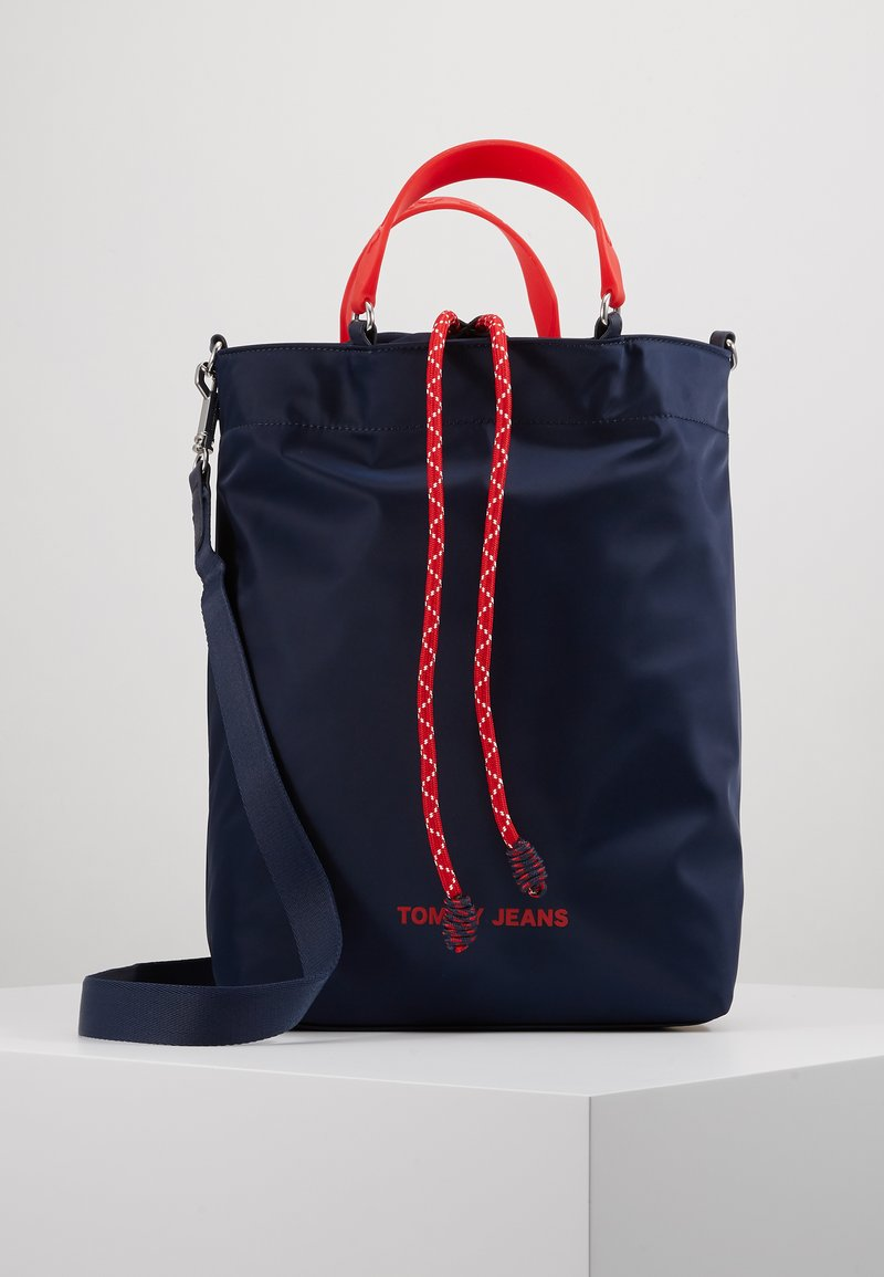 Tommy Jeans - NAUTICAL MIX TOTE - Tote bag - dark blue