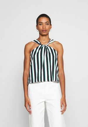 CROSS FRONT - Blouse - downtown/green