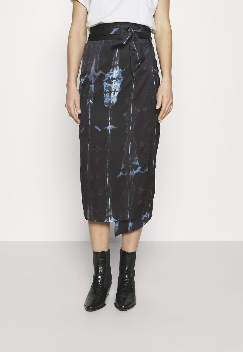 Never Fully Dressed - TIE DYE JASPRE SKIRT - Kynähame - navy