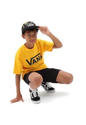 BY VANS CLASSIC BOYS - Print T-shirt - saffron/black