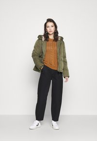 Tommy Jeans - HOODED JACKET - Winter jacket - olive tree - 1