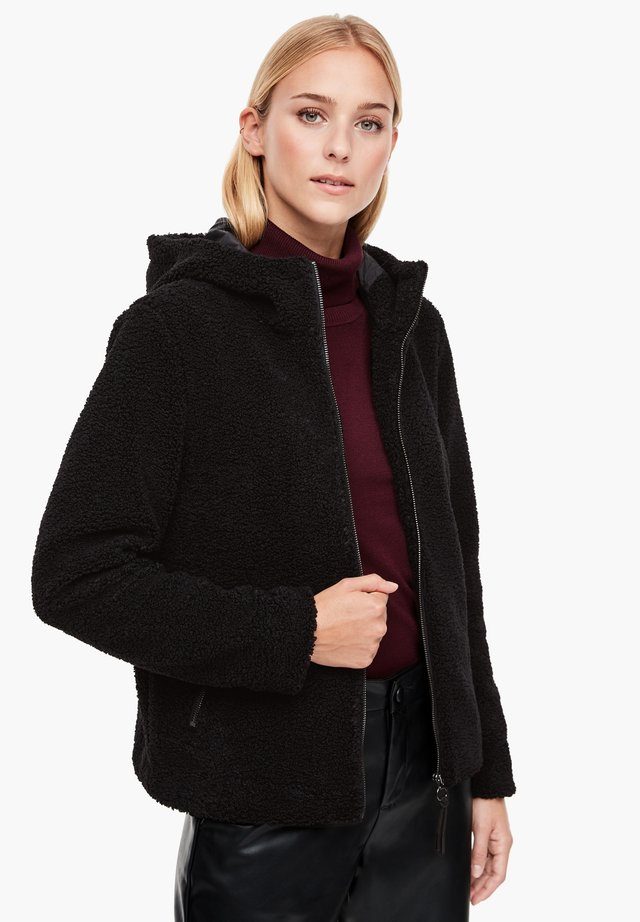 AUS TEDDY-PLÜSCH - Fleece jacket - black