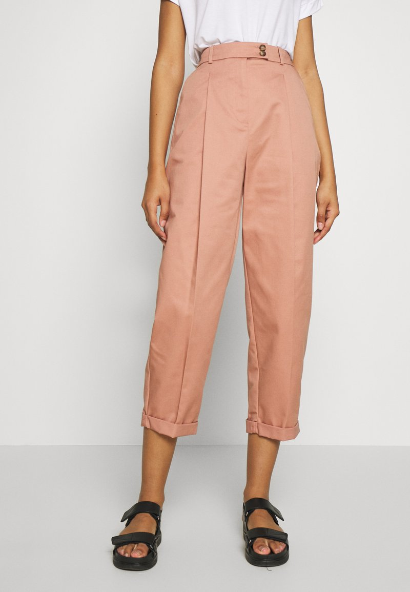Topshop - CHARLEY  - Pantalones chinos - terracota