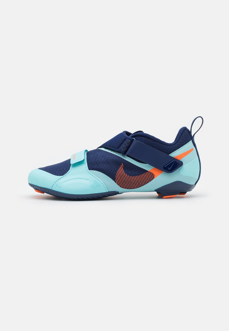 Nike Performance - SUPERREP CYCLE - Cycling shoes - blue void/total orange/copa