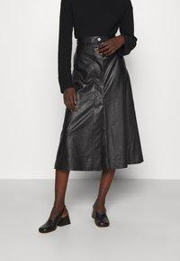 Lovechild - GIOVANNI SKIRT - A-line skirt - black - 0