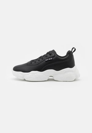 FLAG LOGO CHUNKY TRAINERS - Sneakers laag - black