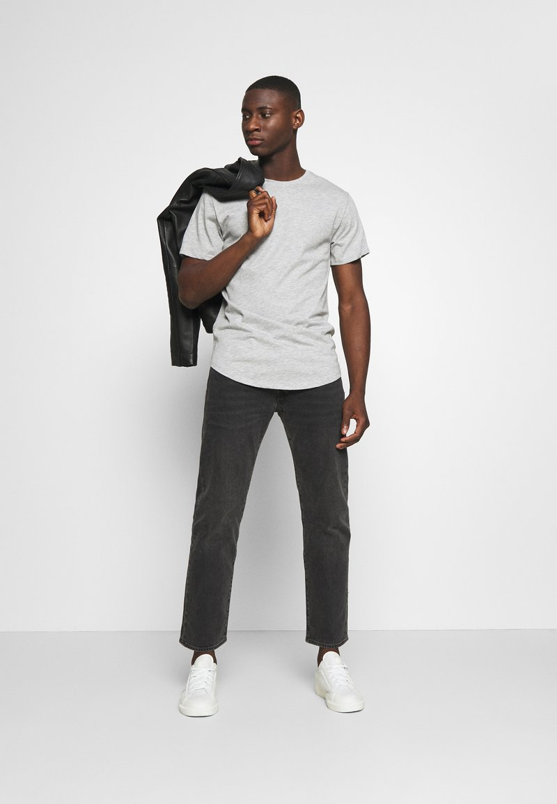Only & Sons - ONSMATT LONGY TEE 3 PACK - Basic T-shirt - light grey melange/white gray/black