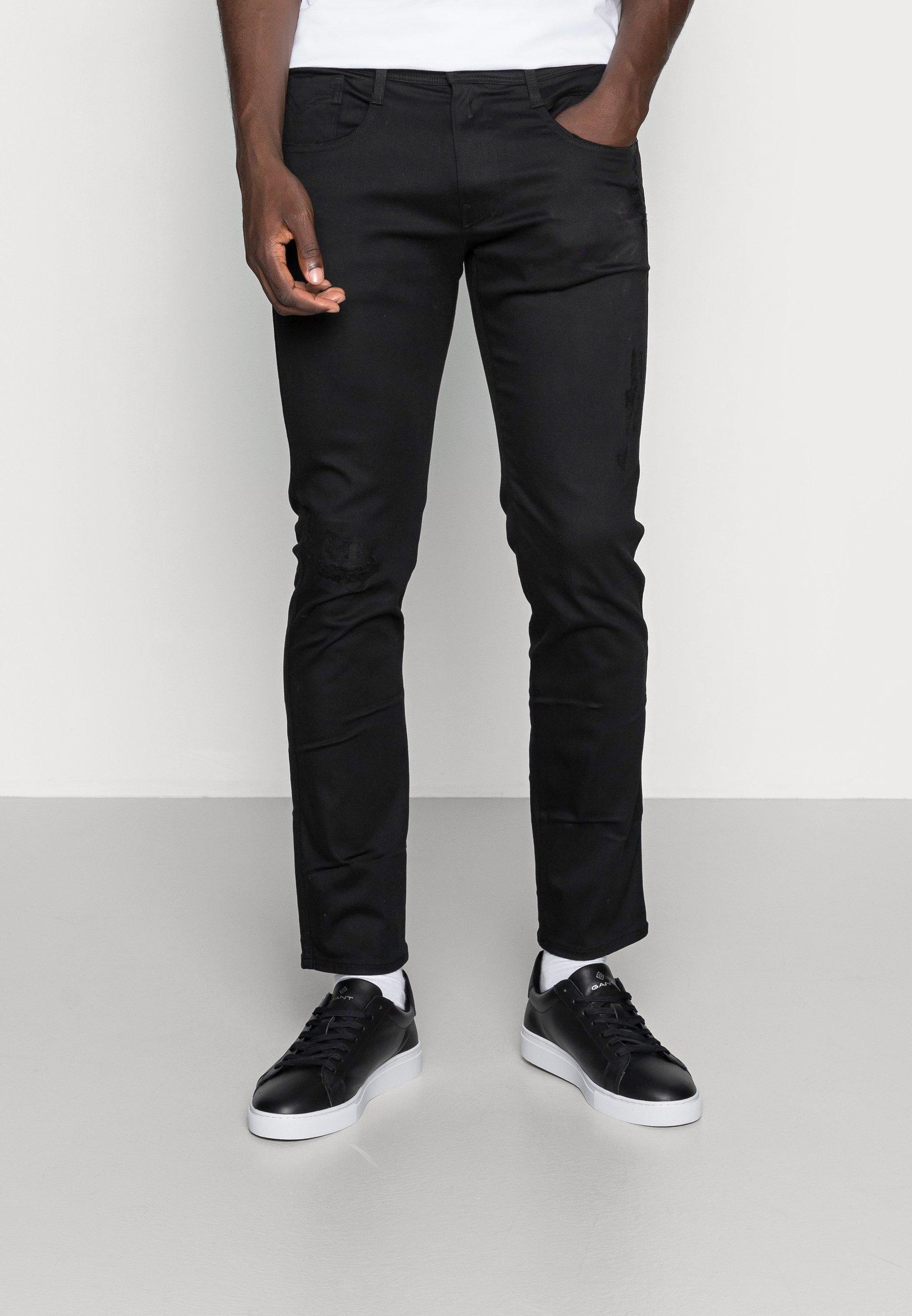 Men ANBASS HYPERFLEX REUSED X-LITE - Slim fit jeans