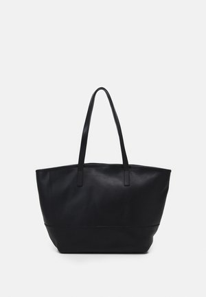 LEATHER SET - Shopping bags - black