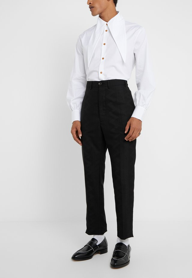 CROPPED GEORGE - Pantaloni eleganti - black