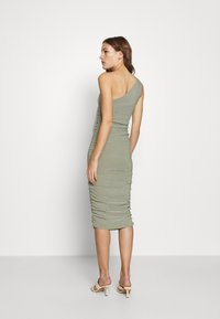 Third Form - STAR DUST ONE SHOULDER MIDI - Cocktail dress / Party dress - sage