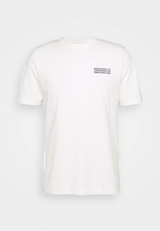 SAMI INFO - T-shirt z nadrukiem - off-white