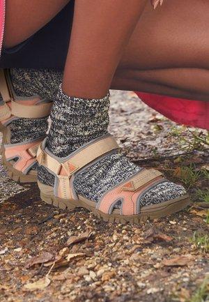 Walking sandals - pink, beige