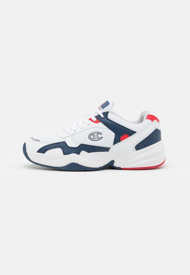 LOW CUT SHOE PHILLY - Obuwie treningowe - white/navy/red