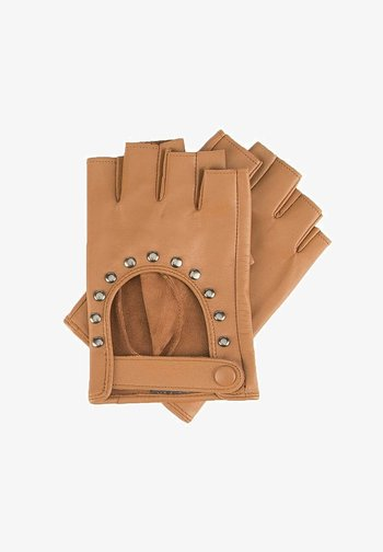 Fingerless gloves - braun