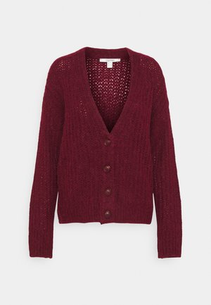 Strikjakke /Cardigans - bordeaux red