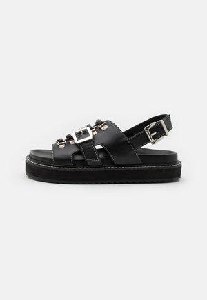 SYDNEY - Korkeakorkoiset sandaalit - black