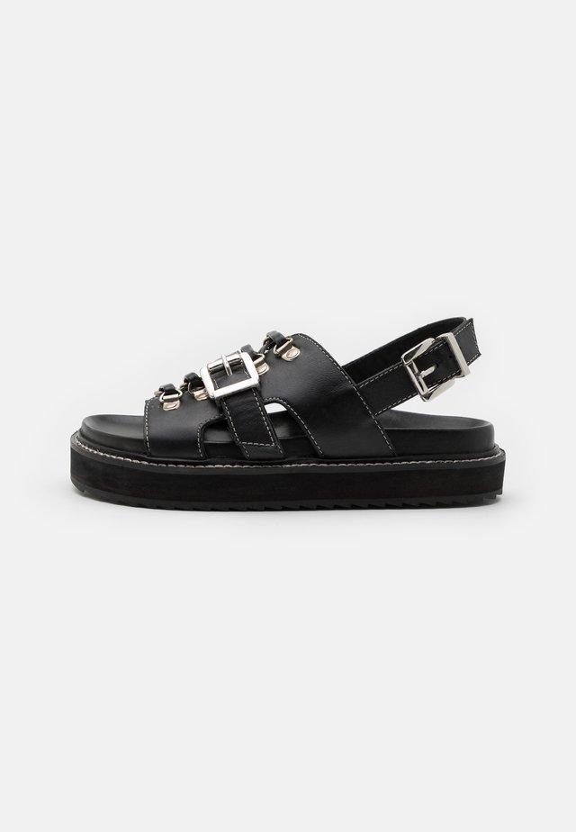 SYDNEY - Sandalen met plateauzool - black