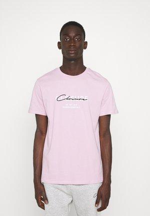 BLOCK SCRIPT LOGO TEE - T-shirt con stampa - pink