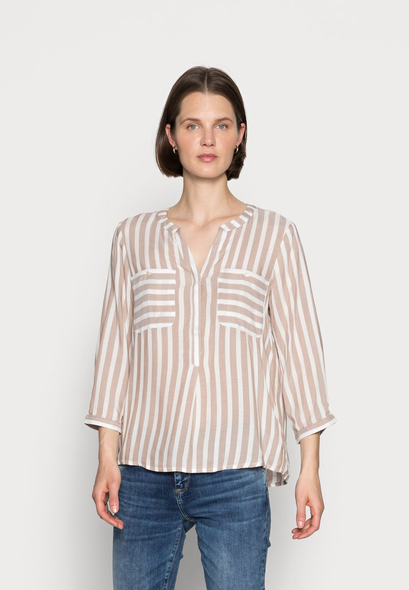 TOM TAILOR - Blouse - beige offwhite