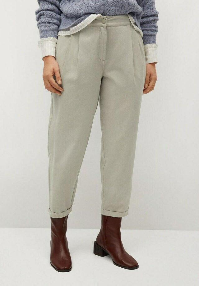 NEWPEPI - Kalhoty - pastelgroen