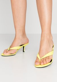 Call it Spring - MYLA - T-bar sandals - bright yellow - 0