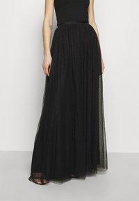 Needle & Thread - KISSES MAXI SKIRT EXCLUSIVE - Maxi skirt - black - 0
