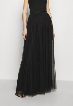 KISSES MAXI SKIRT EXCLUSIVE - Maxi sukně - black