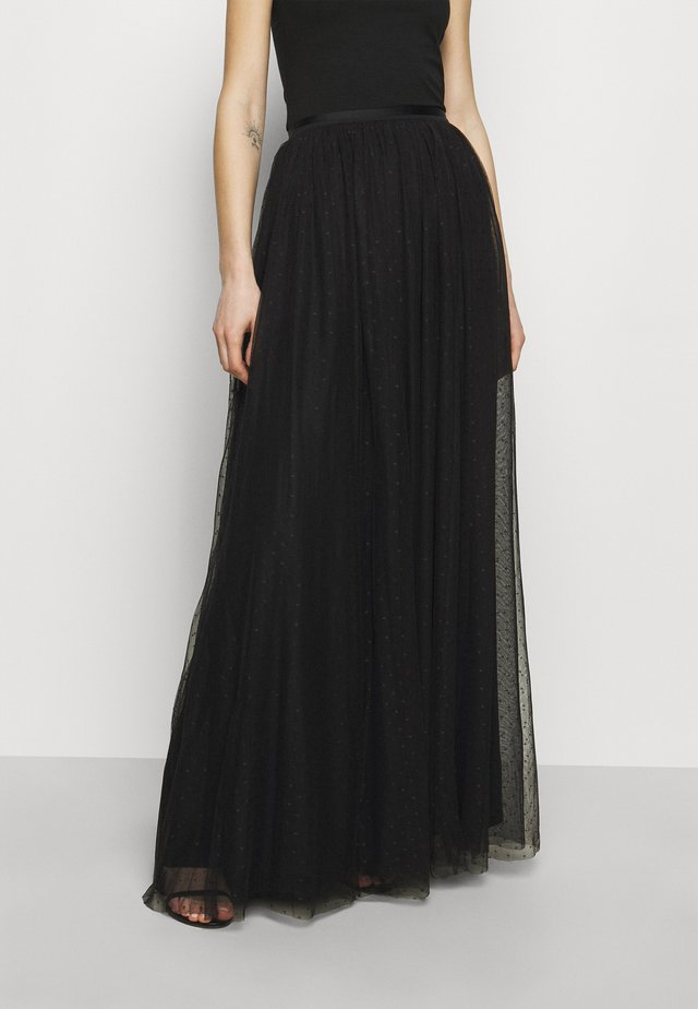 KISSES MAXI SKIRT EXCLUSIVE - Maxirock - black