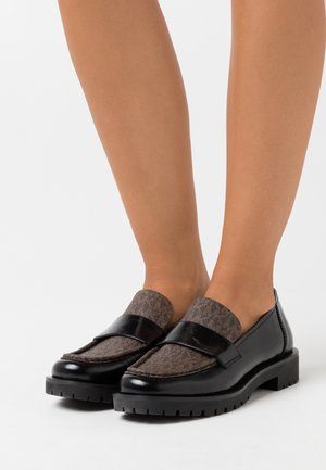 HOLLAND LOAFER - Loaferit/pistokkaat - black/brown
