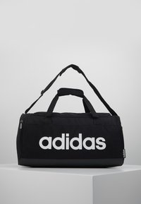 adidas Performance - ESSENTIALS LINEAR SPORT DUFFEL BAG UNISEX - Torba sportowa - black/white - 0