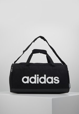 ESSENTIALS LINEAR SPORT DUFFEL BAG UNISEX - Urheilukassi - black/white