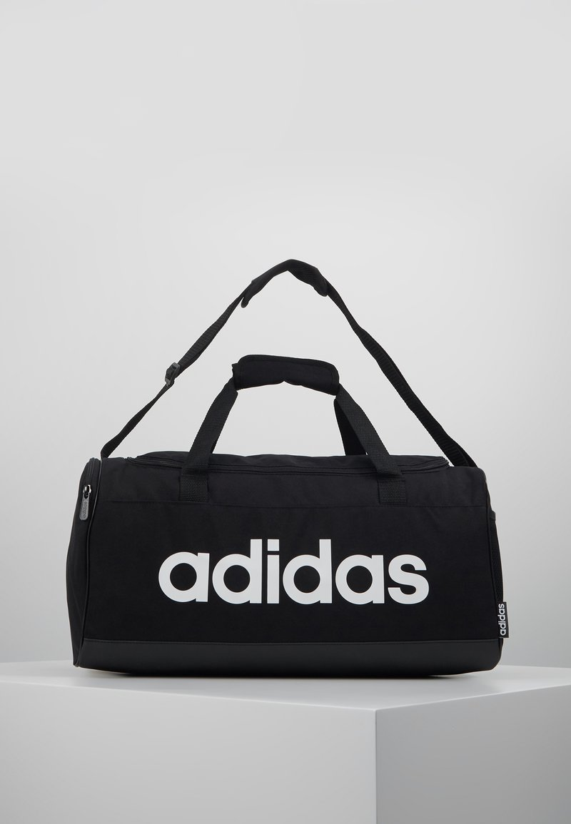 adidas Performance - ESSENTIALS LINEAR SPORT DUFFEL BAG UNISEX - Torba sportowa - black/white