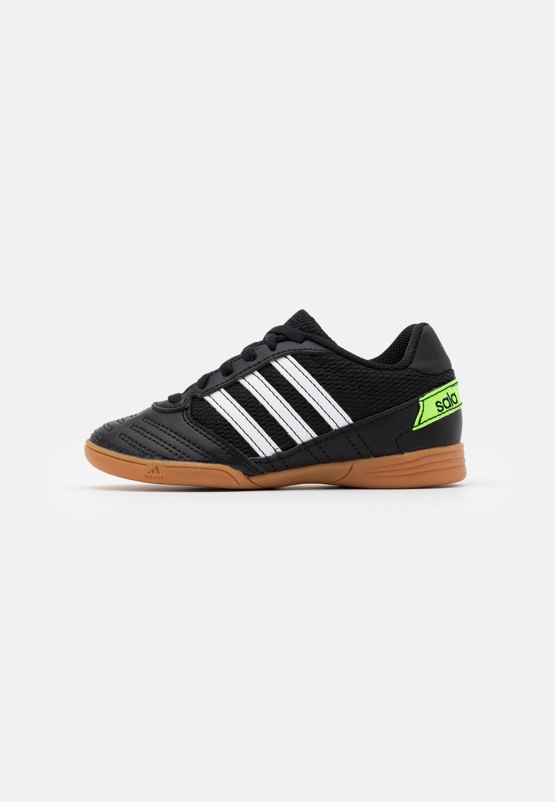 adidas Performance - SUPER SALA UNISEX - Indoor football boots - core black/footwear white/simple green