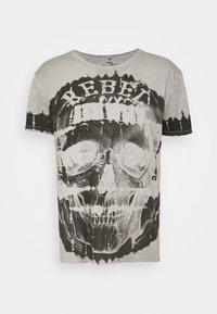Key Largo - REBEL ROUND - Print T-shirt - silver - 3